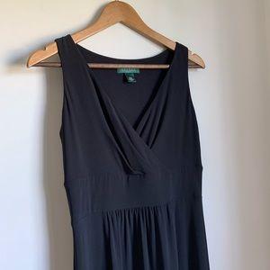 🆕 RALPH LAUREN V-Neck Empire Maxi Dress